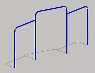 Drievoudig duikelrek metaal