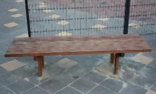 Hard houten bank 3 5 meter
