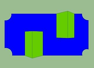 Hindernis speelstructuur dubbele driehoek