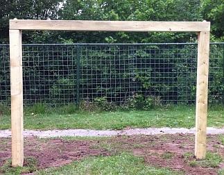 Houten voetbaldoel per set van 2 stuks