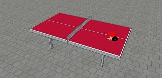 Metalen tafeltennistafel rood