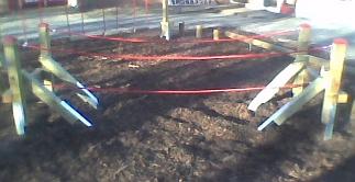 Speeltoestel tarvos touwbrug