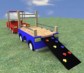 Speeltoestel Terreinwagen met aanhanger