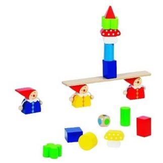 Houten balansspel drie dwergen