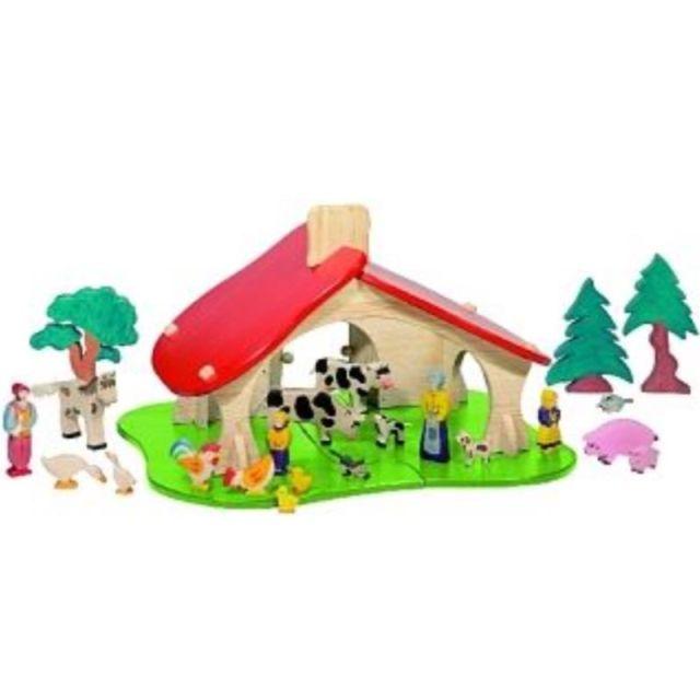 Houten poppenhuis boerderij de k van kinderen for Poppenhuis voor peuters