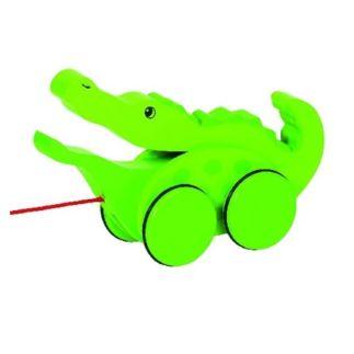 Houten trekdier krokodil