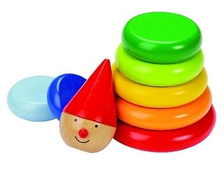 Stapeltoren gekleurde clown