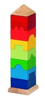 Stapeltoren gekleurde vierkante toren