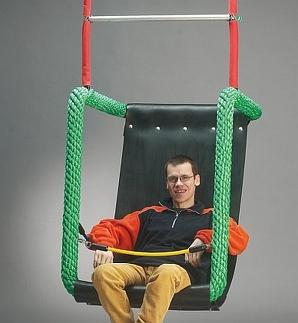 Midi zitschommel voor gehandicapten,incl ophanging