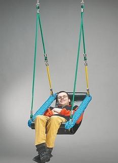 Mini zitschommel voor gehandicapten,incl ophanging