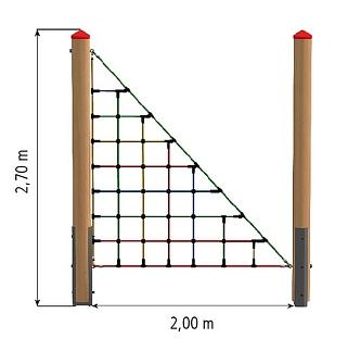 Toegangselement driehoeknet, douglas, incl 1 paal stuk