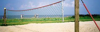 Volleybalnet van 5mm hercules met stalen 16 cm palen