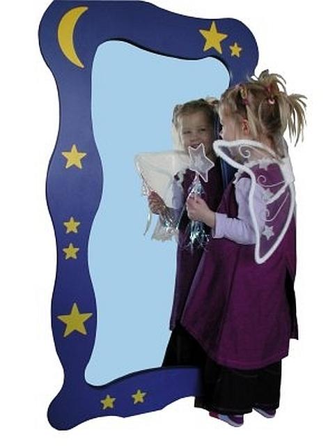 Spiegel ster en maan de k van kinderen - Meubilair van de ingang spiegel ...