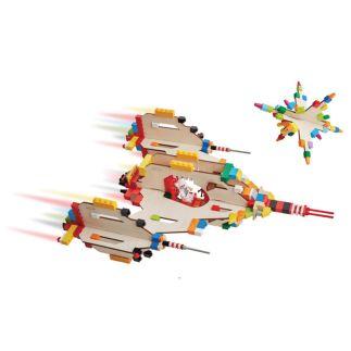 3D Puzzel voor bouwstenen Ruimteschip