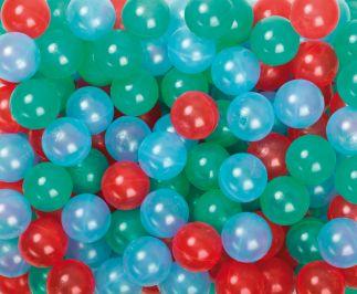 500 Ballenbak speel- therapieballen transparant 75 mm Ø