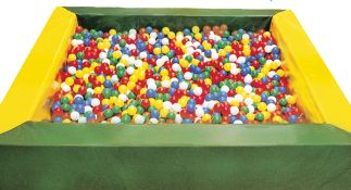 Ballenbad geel groen 250x250 cm