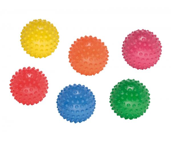 Easy grip bal 12 cm. set van 6 stuks