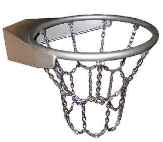 Basketbalkorf uit roestvrijstaal