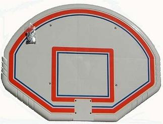 GFK basketbalbord B 1,80 m. x H 1,00 m.  x 35 mm.