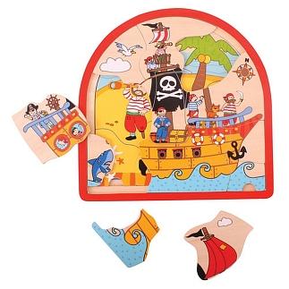 3 lagenpuzzel piraat