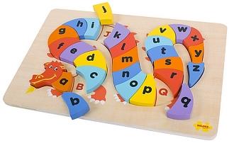 Draak alfabetpuzzel