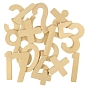 Katoenen zak met 29 houten cijfers