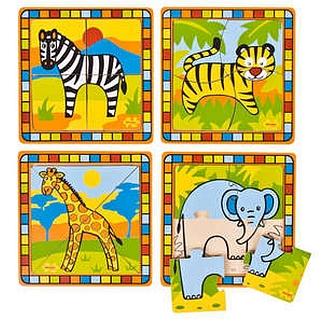 Set van 16 eenvoudige puzzels