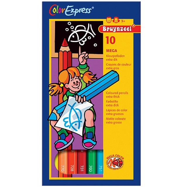 12 x 10 Mega kleurpotloden per kleur