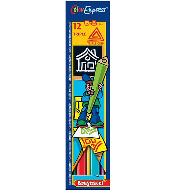 12 x 12 Triple kleurpotloden per kleur