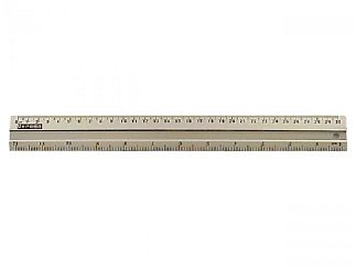 Aluminium lineaal 30cm.