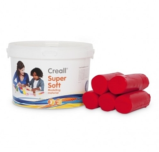 Klei creall supersoft emmer rood