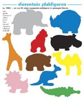 Plakfiguren dierentuin set 10 x 250