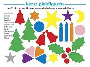 Plakfiguren kerst set 12 x 250