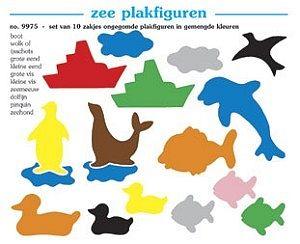 Plakfiguren zee set 10 x 250