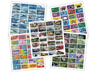 Stickers 5 x pak ass. 0-12 jr.