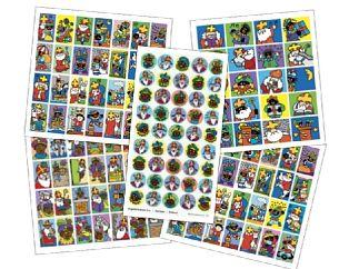Stickers 5 x pak ass. Sint
