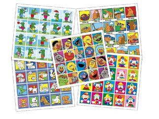 Stickers 5 x pak ass. tot ca. 4 jr.