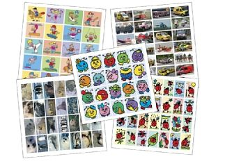 Stickers 5 x pak ass. tot ca. 8 jr.