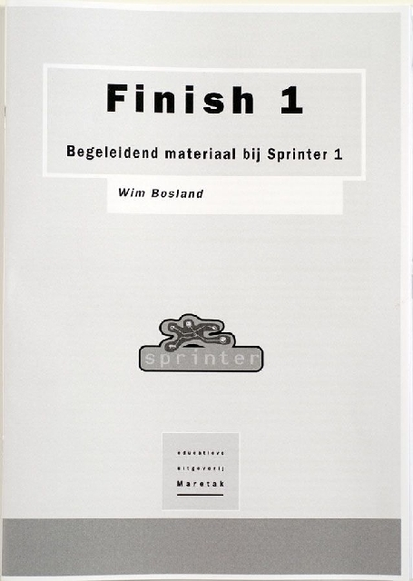 Finish 1, begeleidend materiaal bij sprinter 1