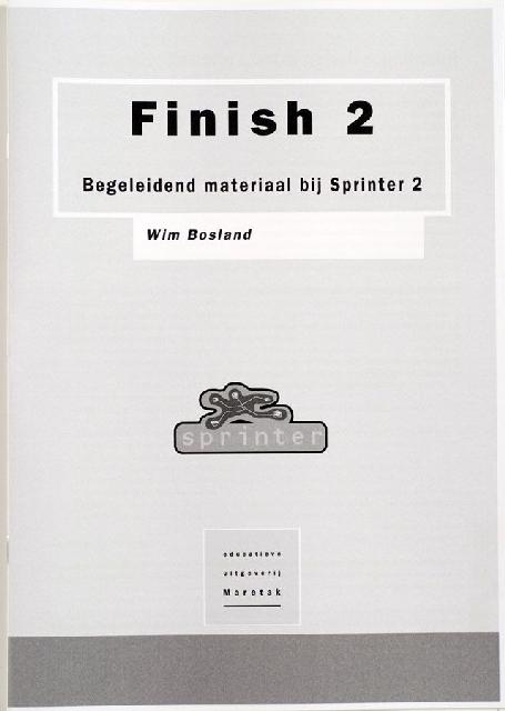 Finish 2, begeleidend materiaal bij sprinter 2