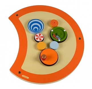 Rups wand en speelelement draaibord