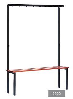 Wandkapstok met zitbank 125 cm