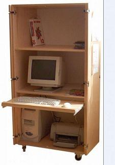 Computerkast verrijdbaar