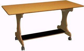 Tafel beuken met wielen 2-3 zitplaatsen