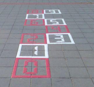 Hinkelblok cijfers rood wit
