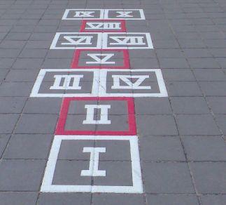 Hinkelblok romeinse cijfers