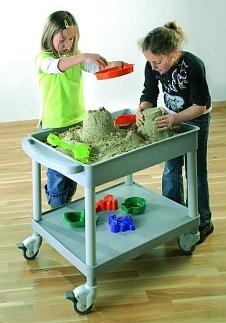 CLever Cart-Zandbak-trolley met 3x2kg vorm-zand