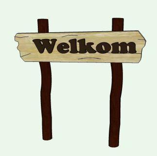 Bord welkom hout