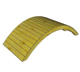 bruggetje op maat hout