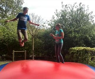 Mega jumping nederlandse vlag